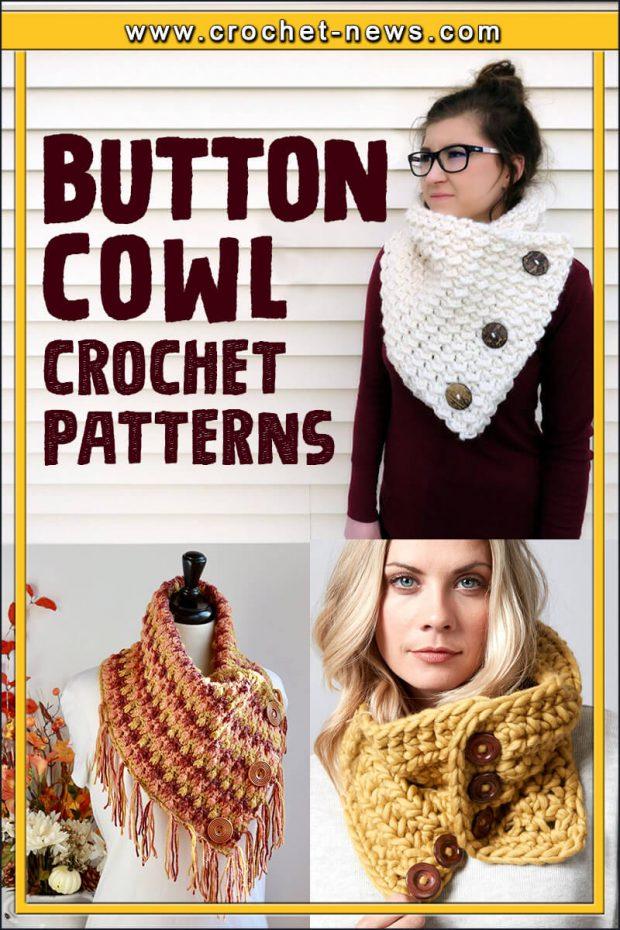 BUTTON COWL CROCHET PATTERNS