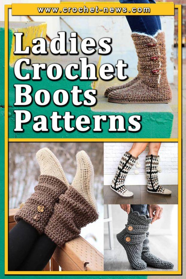 LADIES CROCHET BOOTS PATTERNS