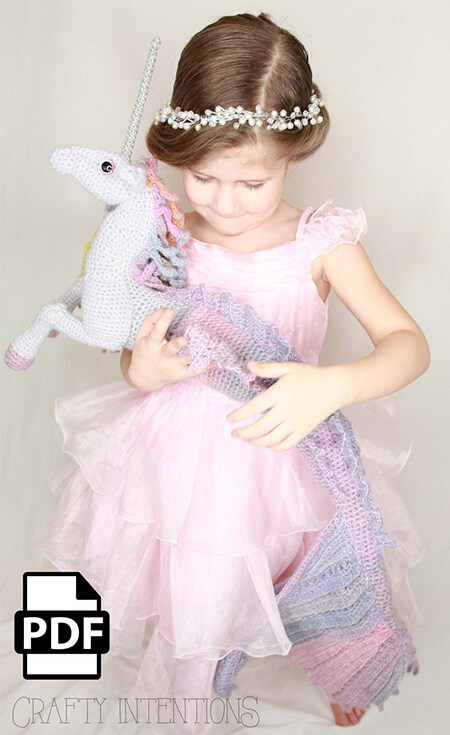 Crafty Intentions Mermaid Unicorn Amigurumi Pattern