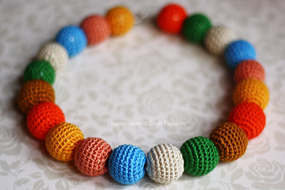 Crochet Bead Necklace by CraftPassion