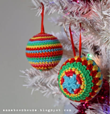 Crochet Christmas Ball By Annabooshouse