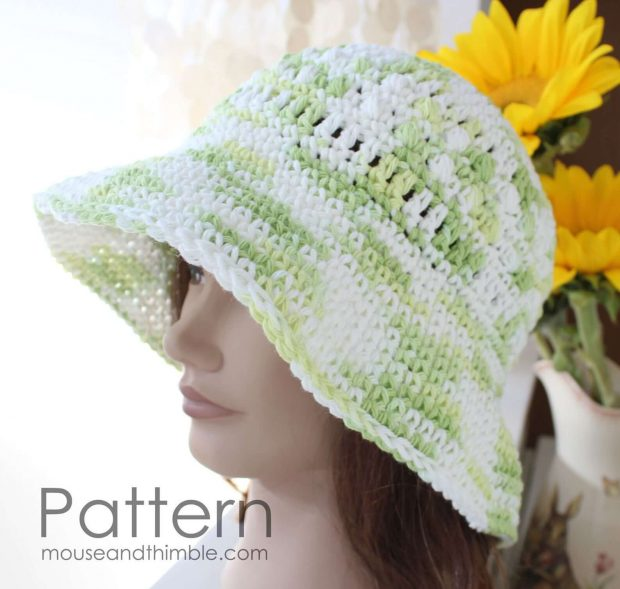 Easy Cool Lime Cotton Sun hat By MouseandThimble
