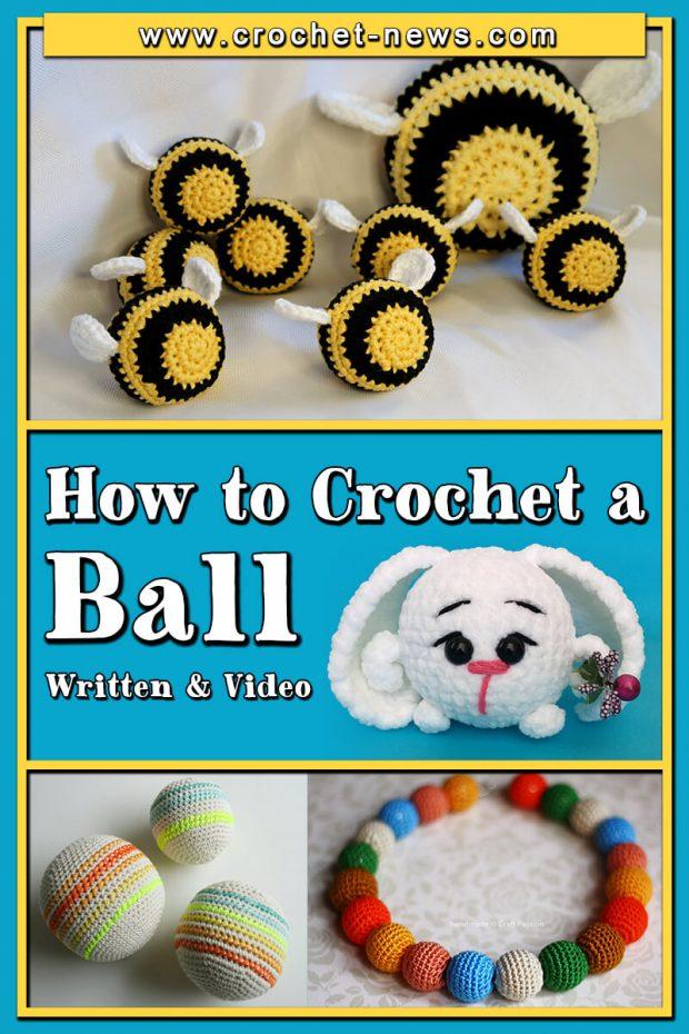 HOW TO CROCHET A BALL WRITTEN and VIDEO