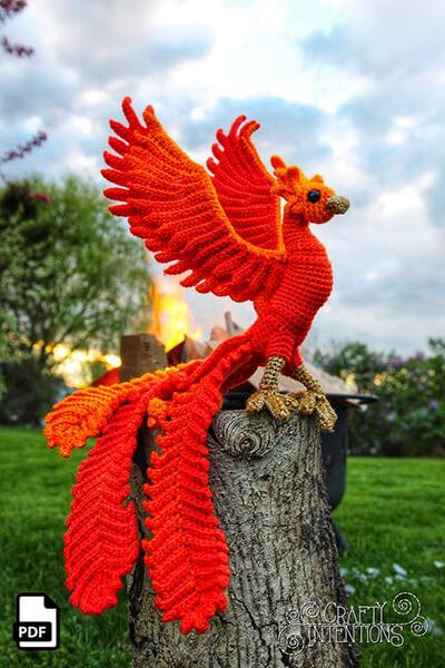 Phoenix Firebird Crochet Amigurumi By Crafty Intentions