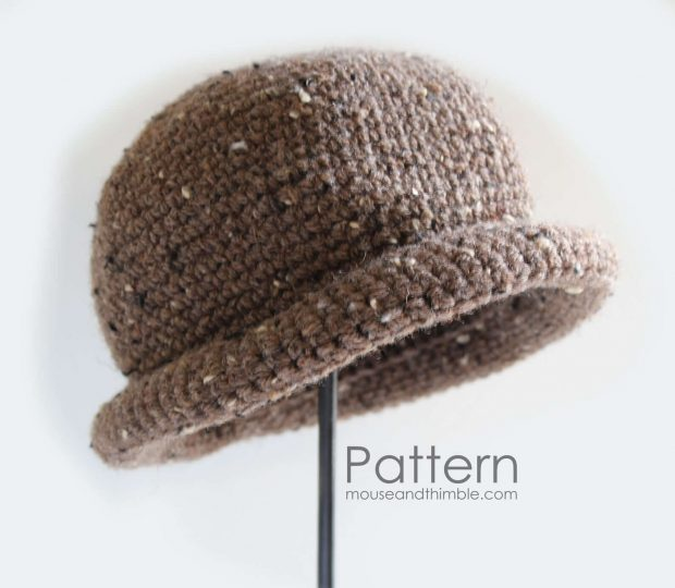 Rolled Crochet Brim Hat Pattern By MouseandThimble
