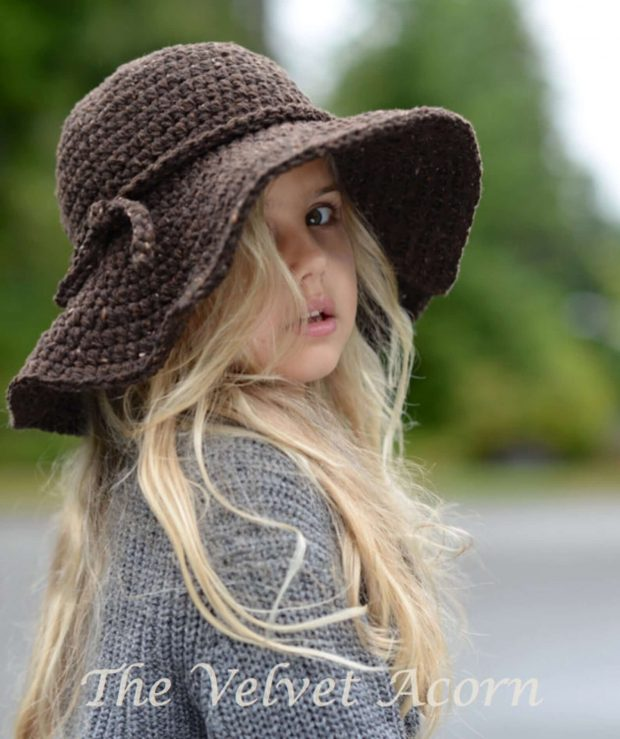 The Wanderlust Crochet Hat with Brim By Thevelvetacorn
