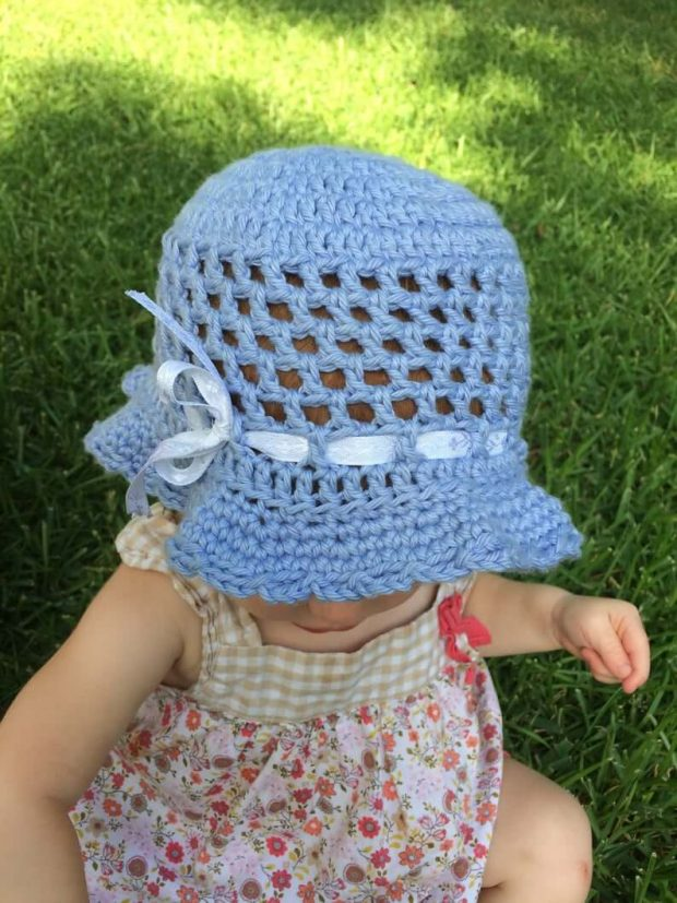 Toddler Sun Hat By ChristaCoDesign