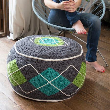 Argyle Bean Bag Crochet Pattern by Red Heart