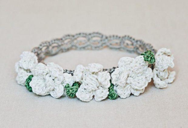 beginner Crochet Flower Pattern for Headband