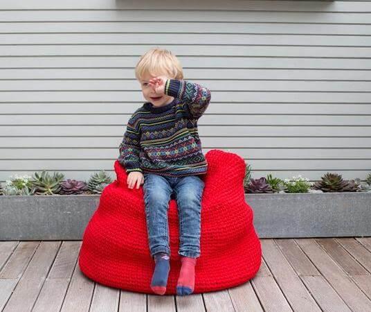 Big Bean Bag Crochet Pattern by Annaboos House
