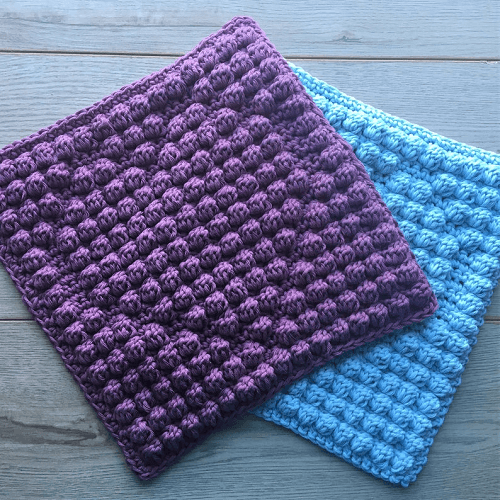 Bobble Heart Crochet Scrubbies Pattern by Sunny And Stitch