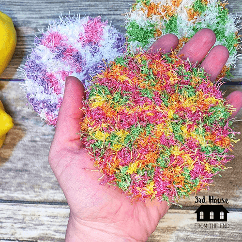 Bulky Dish Scrubbies Crochet Pattern by 3rd House From The End