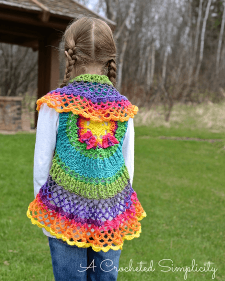 Butterfly Mandala Vest Crochet Pattern by A Crocheted Simplicity