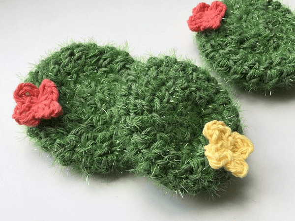 Cactus Dish Scrubby Crochet Pattern by Belle And Bean Crochet