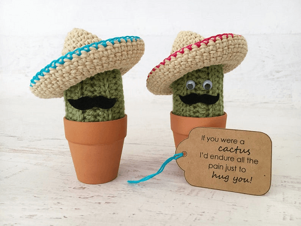 Carl The Cactus Amigurumi Pattern by Yarn Blossom Boutique