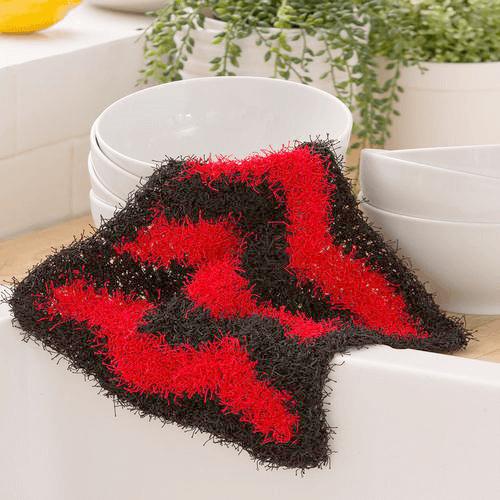 Chevron Crochet Scrubbie Pattern by Lorene Eppolite