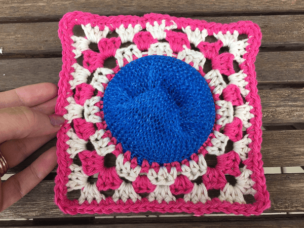 Circle Granny Square Scrubby Crochet Pattern by Rich Textures Crochet