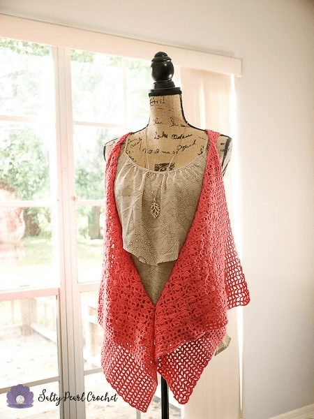 Clamshell Lace Vest Crochet Pattern by Salty Pearl Crochet