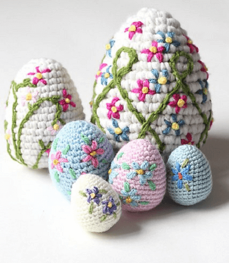 Crochet Amigurumi Easter Eggs Pattern by Zeens And Roger
