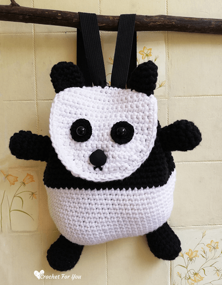 Crochet Panda Backpack Pattern by Crochet For You