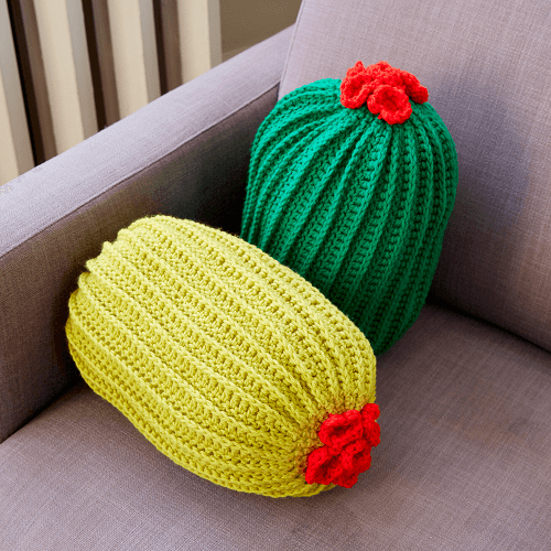 Crochet Cacti Pillows by Yarnspirations