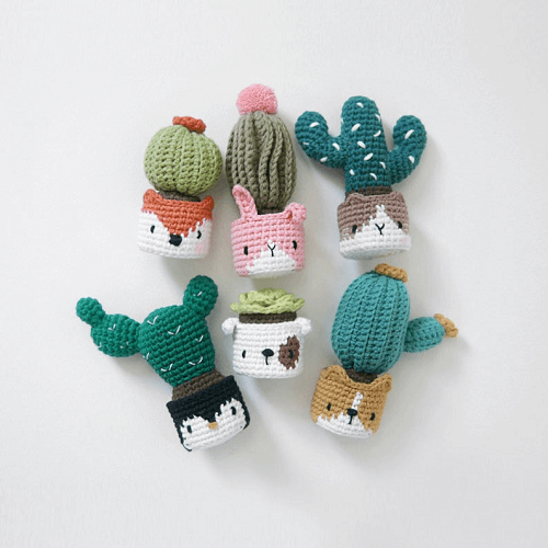 Crochet Cactus In The Facepot Pattern by Big Bebez