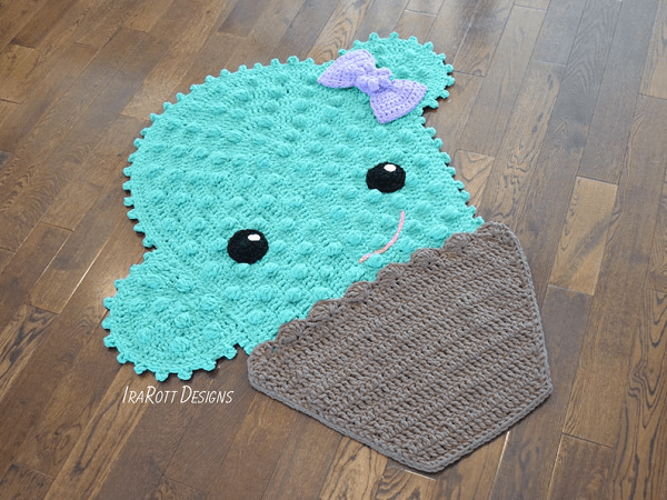 Crochet Cactus Rug Pattern by Irarott Patterns