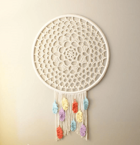 Crochet Dreamcatcher Wall Hanging Pattern by Mid Knits
