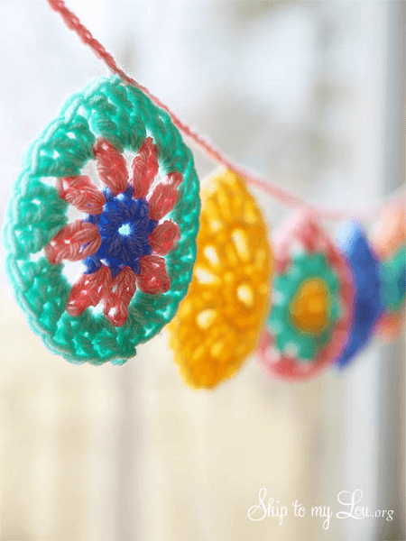 Crochet Easter Egg Garland by Skip To My Lou