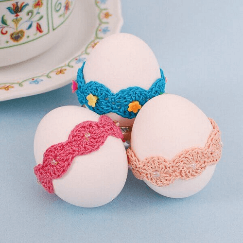 Crochet Easter Eggs Lace Wrap Pattern by Petals To Picots