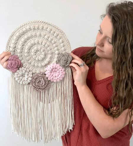 Crochet Flower Dreamcatcher Pattern by A Crafty Concept