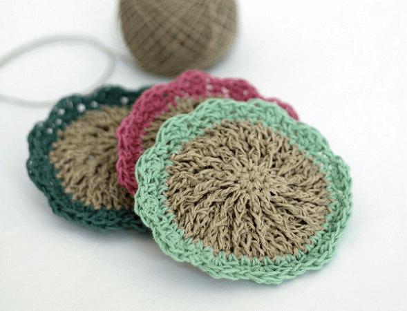 Crochet Hemp Scrubbies Pattern by Persia Lou