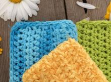 Crochet Kitchen Scrubby Pattern by CAAB Crochet