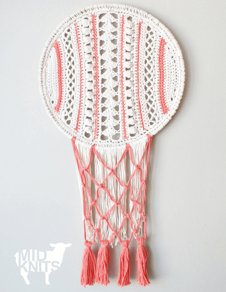 Crochet Lacy Stripes Dream Catcher Pattern by Mid Knits