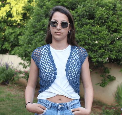 Crochet Lacy Vest Pattern by Etty 2504