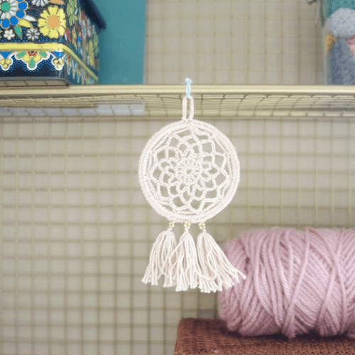 Crochet Mini Dream Catcher Pattern by Picot Pals