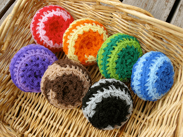 Crochet Nylon Net Scrubbies Pattern by Melanie Larsen