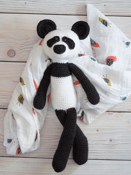 Crochet Panda Bear Pattern by Whistle And Ivy