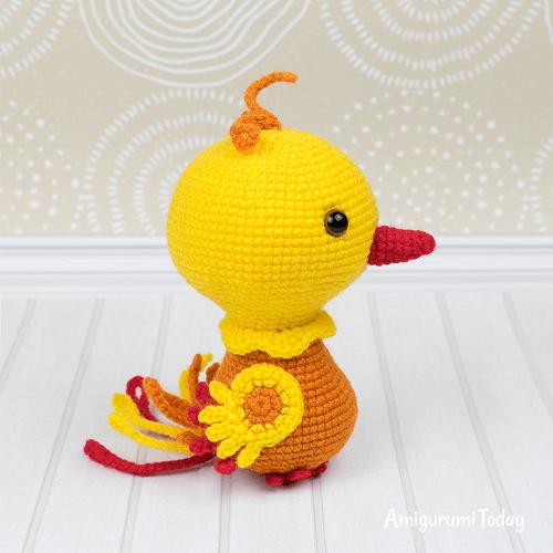 Crochet Phoenix Amigurumi Pattern by Amigurumi Today