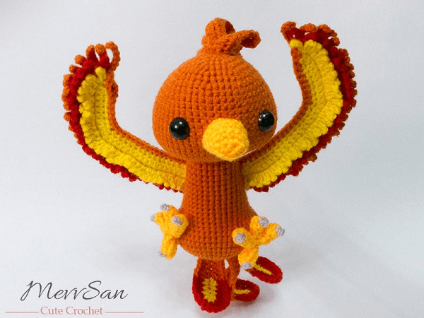 Crochet Phoenix Pattern by Mevv San