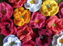 Crochet Poppy Free Pattern by Vera Matrebo