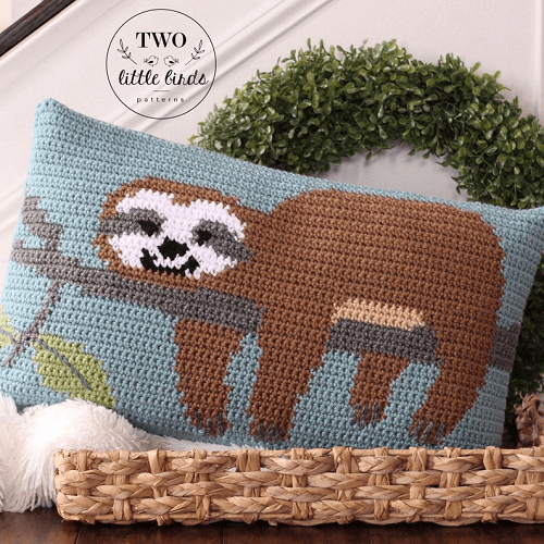 Crochet Sloth Pillow Pattern by TLB Patterns