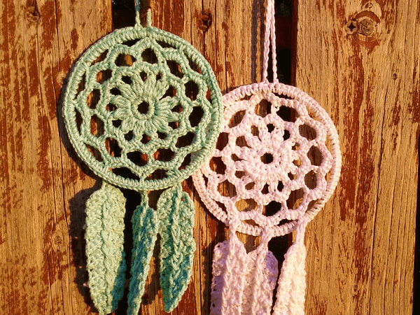 Crochet Small Mandala Dreamcatcher Pattern by The Pixi Way