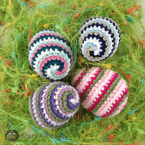 Crochet Spiral Easter Eggs by Krazy Kabbage