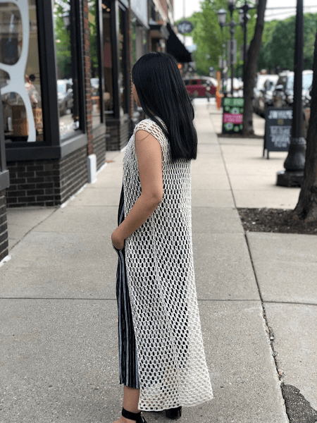 Crochet Summer Long Vest Pattern by Knitcro Addict