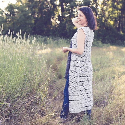 Crochet Summer Vest Pattern by Teal And Finch