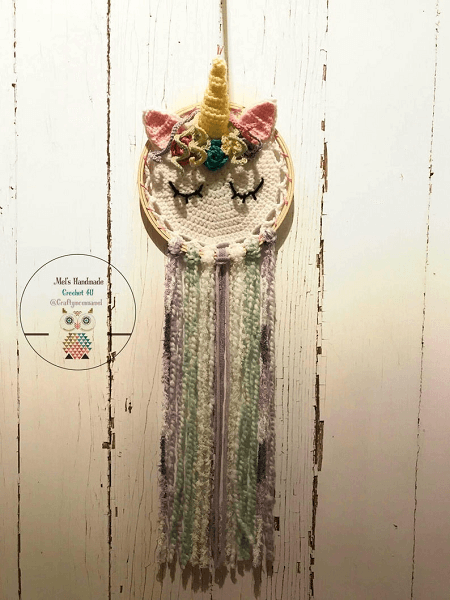 Crochet Unicorn Dream Catcher Pattern by Crochet Rox
