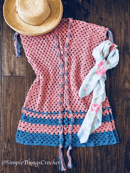 Crochet Vest Pattern For Women by Simple Things By Tia