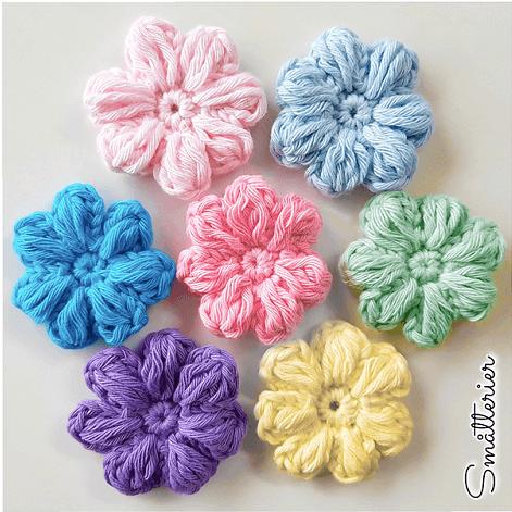 Daisy Face Scrubbie Crochet Pattern by Hilde Ropstad