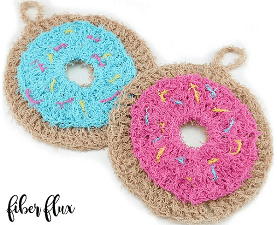 Donut Scrubbies Crochet Pattern by Fiber Flux